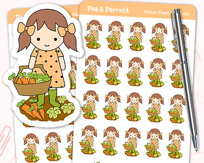 Journal Diary Scrapbook Stationery Veg Allotment Personalised Planner Stickers