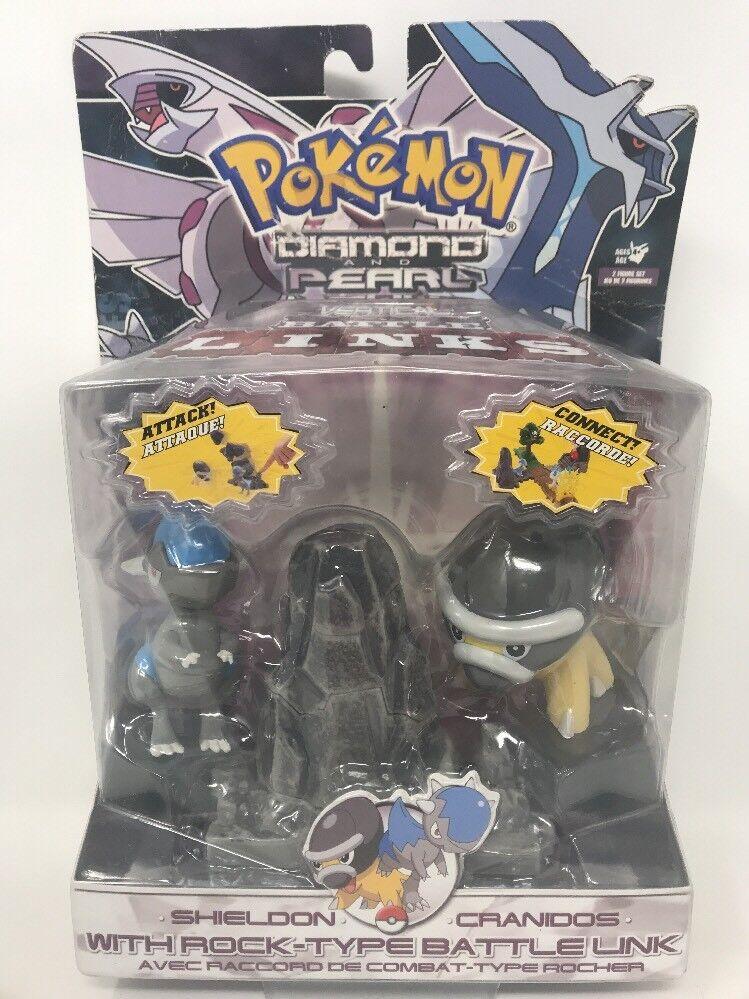 Pokemon Diamante & Perla Batalla enlaces de batalla verdeical Shieldon cradinos con Rock