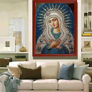 A-faire-soi-meme-5D-Diamond-mosaicreligious-PEINTURE-La-Vierge-Marie-Stitch-embroiderygift-SP
