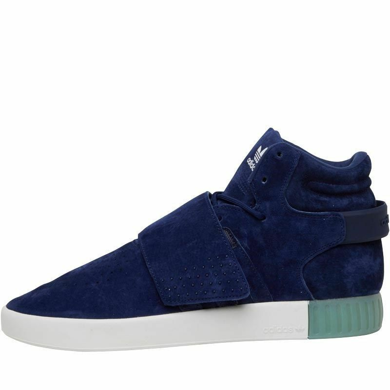 adidas adidas adidas Originals Tubular Invader Strap Dark Blue Suede Hi Top New Trainers 6973ce