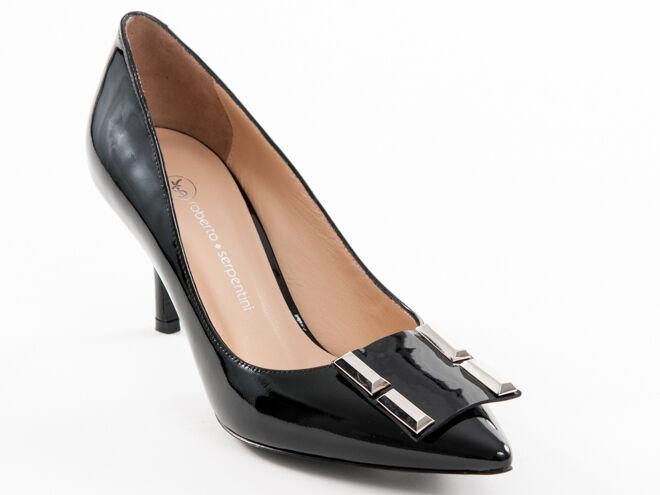 vendita scontata New Roberto Roberto Roberto Serpentini nero Patent Leather scarpe Made in  Dimensione 36 US 6  economico e di alta qualità