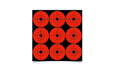 "Birchwood Casey Self Adhesive Targets Spots 3/"" Round 40 targets 33903 Bright Red"