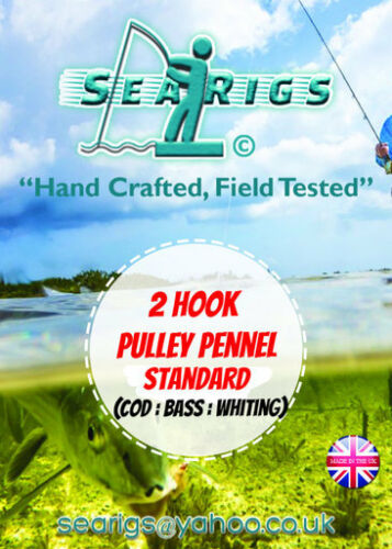 3//0 Cod /& Bass x 12 Packs 2 Hook Pulley Rig 2//0 Pennel Sea Fishing Rigs