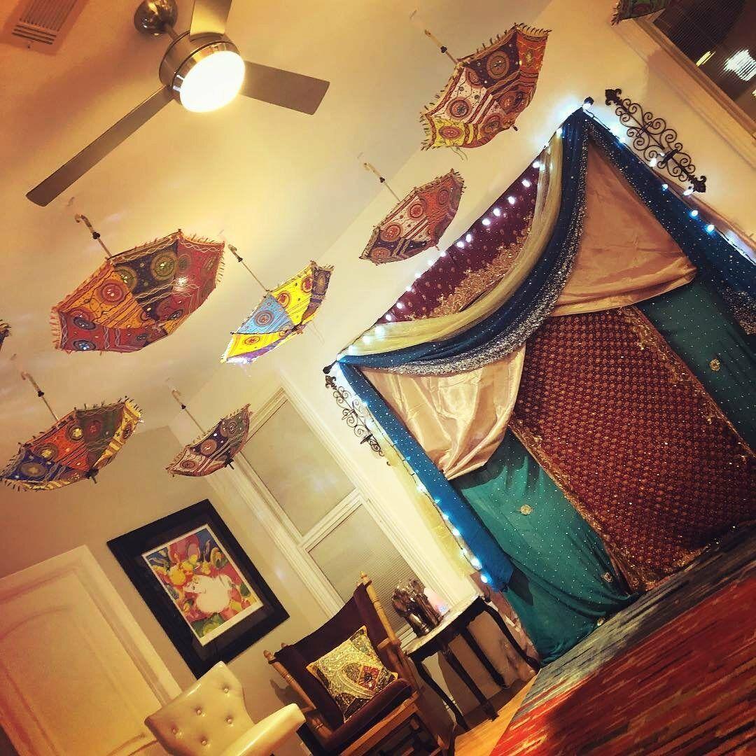 05-Pc Parasol New Indian Art Umbrella Garden Decorative Wedding Bridal Shower