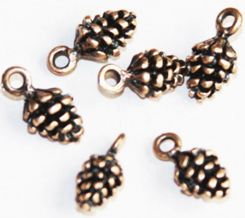 10 pcs of Pine Cone Charm 14x7mm