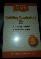 Houghton Mifflin Math : Building Vocabulary Kit Grade 5