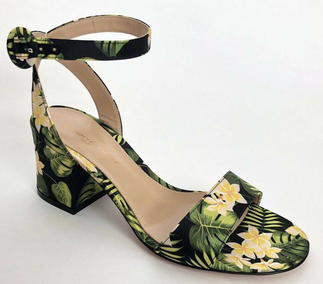 Gianvito Rossi Women shoes Size 38.5 NIB Sandals Floral