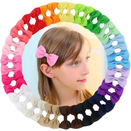 40pcs Baby Girl Boutique Grosgrain Ribbon Hair Bow Alligator Clips For Kid girls