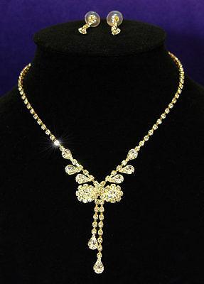 Warnen Hochzeit Halskette Farbband Gold Schmuckset S1053 Brautschmuck