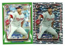 2014 BOWMAN 2 CARD GIO GONZALE LOT 1 GREEN #ED130/150,1 SILVER ICE