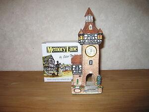 MEMORY LANE *NEW* Maison Cottage Bell Tower avec Horloge 24x8cm JJQtdZKf-08065704-376043328