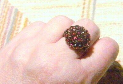 Diszipliniert Antik Biedermeier Um 1860 Einmaliger Granat 585er Gold Ring Rg 61 / 19,5 Rar Direktverkaufspreis