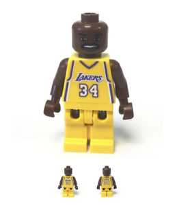 LEGO Sports Shaquille O/'Neal LA Lakers Minifig with Plate /& Basketball Card