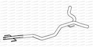Alfa 159 2.4Jtd 939 est 210 07 Tubos De Escape Centro Tubo Repuesto reemplazar