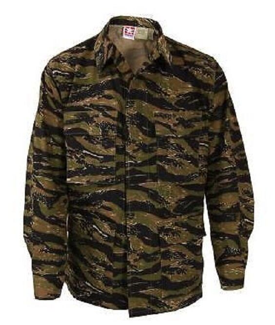 Us Army  tigerstripe BDU Battle dress coat camisa chaqueta Tiger Stripe xxlarge Largo  se descuenta