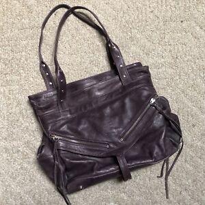 7178808b76 Image is loading GUC-Botkier-Purple-Leather-Trigger-Satchel-Handbag