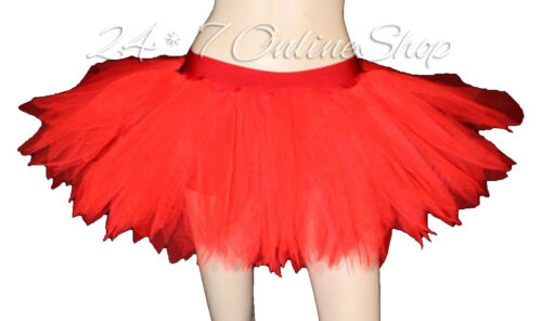 Red Short And Long Valentines Day 7 Layer Peacock Tutu Skirt Rave Party