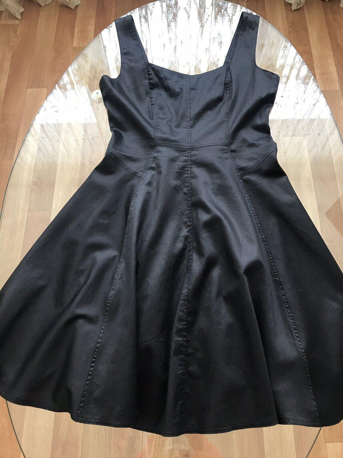 TARA JARMON   Kleid Abendkleid 40 42 M L Luxus schwarz ärmellos Baumwolle neu