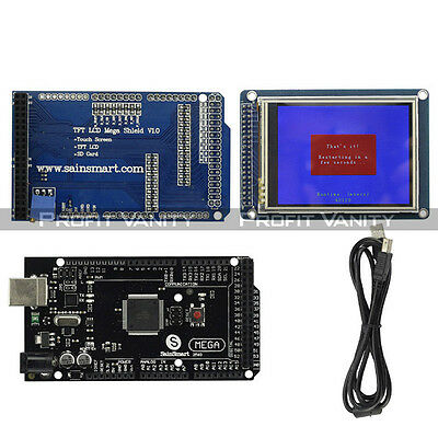 "SainSmart Mega2560 R3 +3,2"" TFT Touch LCD mit SD Reader + TFT Shield For Arduino"