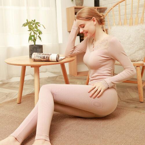Automne Vêtements Pantalon Long Costume Col en dentelle et poignets dentelle corps pour garder au chaud