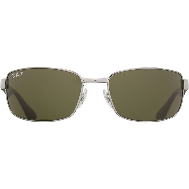 00b56fe7310 Authentic Ray-Ban RB 3478 Rb3478 004 58 Silver Green Polarized Sunglasses  63mm