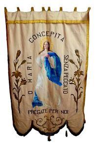 antico-stendardo-gonfalone-quadro-arazzo-religioso-maria-concepita-madonna-1800