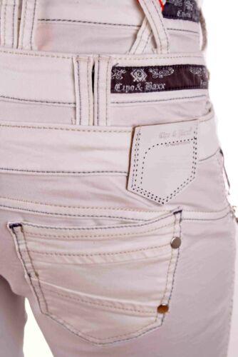 CIPO /& BAXX Jeans da Donna Pantaloni 3-Bund-Jeans cbw-0245 Bianco