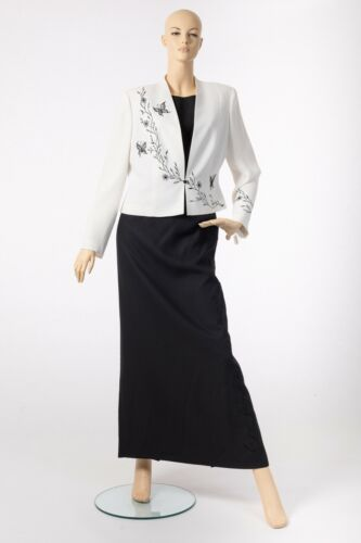 *SALE* Condici Mother of the Bride Black /& White Skirt Top Suit Size 16 /& 18