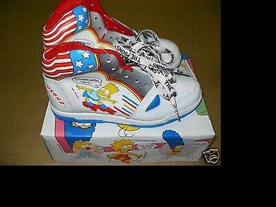 THE SIMPSONS BART SIMPSON CHILDS TRAINERS SHOES NEW BOXED ORIGINAL