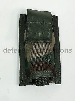 MOLLE 40mm Pyrotechnic Utility Double Pouch Woodland Camo Army USGI NEW