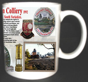 THURCROFT-MAIN-COLLIERY-COAL-MINE-MUG-LIMITED-EDITION-GIFT-MINERS-YORKSHIRE-PIT
