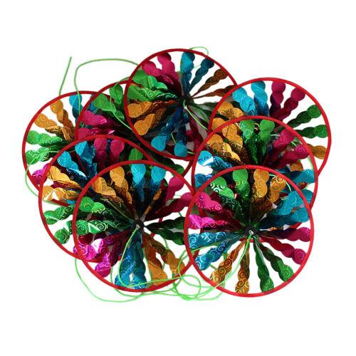 Regenbogen Blume Windmühle Spinner String Flagge Windspiel Camping Hochzeit