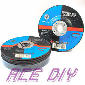 Metal-Grinding-Discs-115-mm-Depressed-Centre-Dished-Angle-Disk-115-x-3-x-22-2-mm