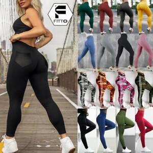 Damen Nahtlos Leggings Push Sporthose Fitness Gym Jogging Yoga Stretch Leggins