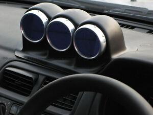 PH~ Dash Mount Triple Gauge Pod 60mm (RHD) For Nissan S14 Uras Type FRP Glass