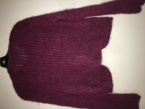 mohair magenta diffusion I top cardigan donna L mantello b maglione Rn4656 lana maglione taglia xwIwaBqR
