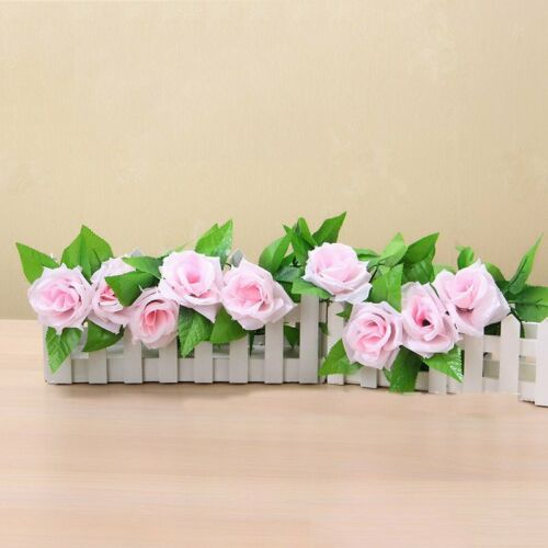 Rose Garland Home DIY Party Decor Vine Ivy 7 Ft   Artificial Flower Faux Silk