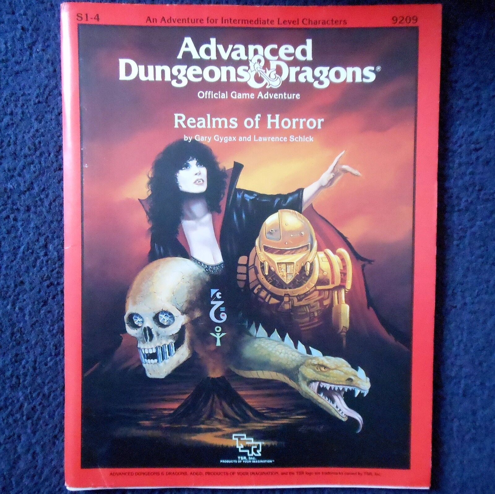 S1-4 Realms of Horror Advanced Dungeons & Dragons Adventure Module D&D TSR 9209