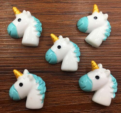 DIY 5//25//50pcs Unicorn Flatback Resin Cabochon Scrapbooking//Crafts