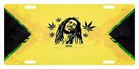 Rasta Flag Colors Custom License Plate Rastafarian Emblem Bob Version Ii