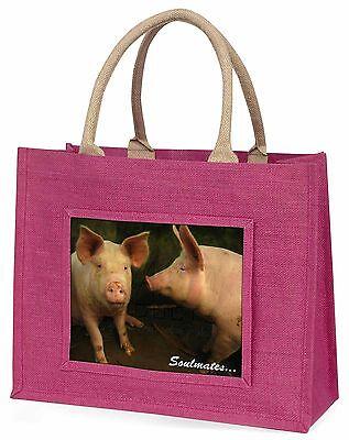 Pigs in Love Sty Soulmates Große Rosa Einkaufstasche Weihnachten Prese,