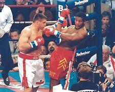 RIDDICK BOWE vs ANDREW GOLOTA 8X10 PHOTO BOXING PICTURE BOWE ON ROPES