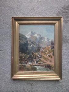 Gemälde signiert L. Grille Öl auf Karton um 1940