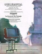 PUBLICITE ADVERTISING 024   1964   TELEAVIA    FILTRAVIA   téléviseur