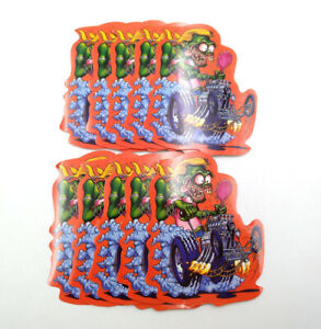 Rat Fink Head Ed Roth Vinyl Decal 10pcs Big Daddy Skateboard Hot Rods Stickers