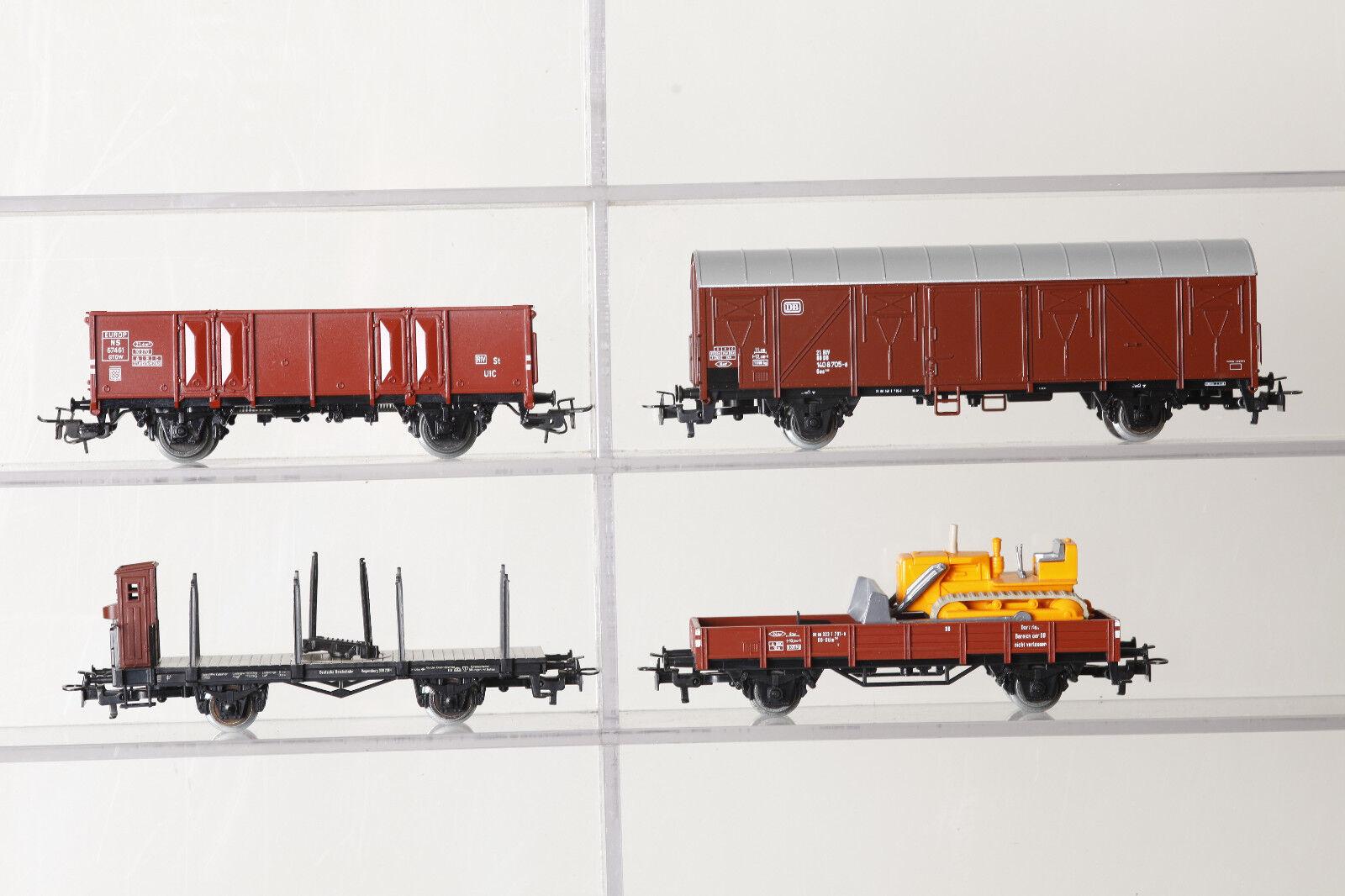 Märklin H0 4x Freight Car 4639 4710 4697 4424 Boxed (72998)