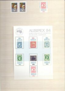 Collection-of-Australian-Stamps-1984-1997-unmounted-Mint-mini-sheets-etc-RB1