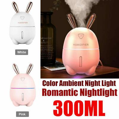 DIY 300ml Mini USB Air Humidifier Ultrasonic Essential Oil Diffuser Dear Rabbit | eBay