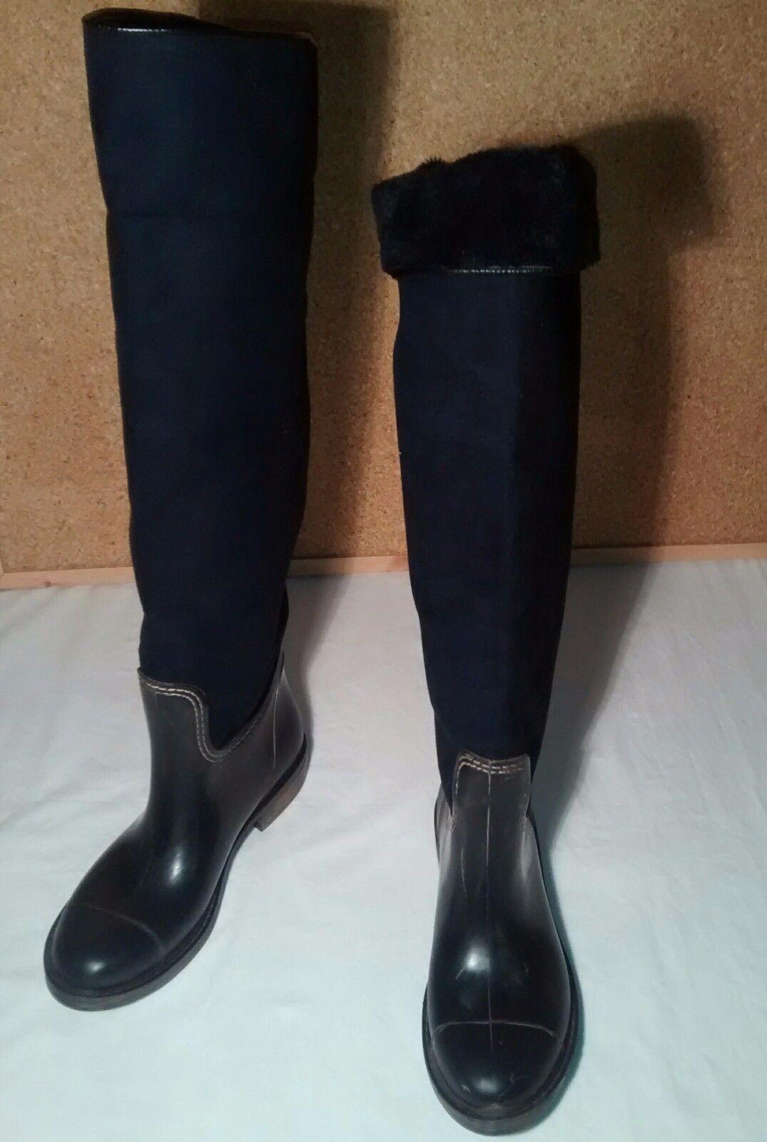 Il 7 8 Kurt Geiger su o sopra il o ginocchio o il Ginocchio in Pelle Scamosciata Pelliccia Stivali Invernali In Gomma ad9720