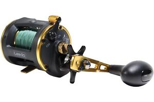 Leeda-Icon-Boat-Multiplier-Reels-Size-20-amp-30-Spooled-with-Braid-Ready-To-Go